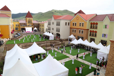Nukht Village outdoor shopping mall In Mongolia